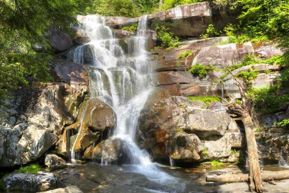 Ramsey Cascades water fall in the Smoky Mountains.