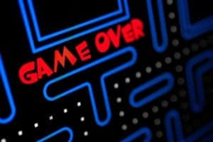 arcade game Pac-Man game over image