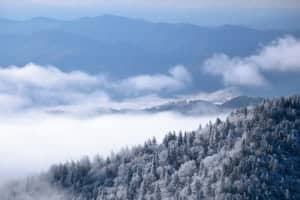 Beautiful photo of winter in the Smoky Mountains.