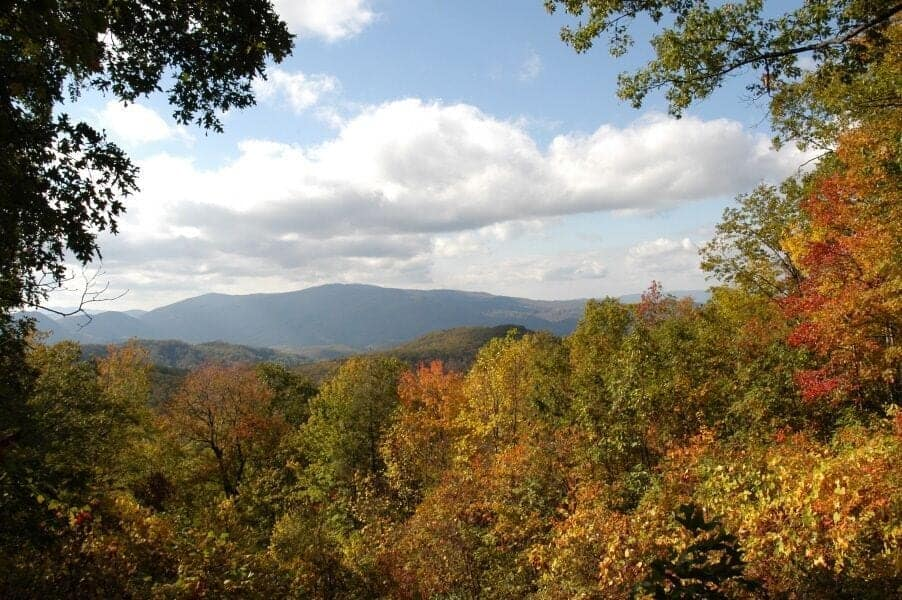 Fall view in the Smoky Mountains