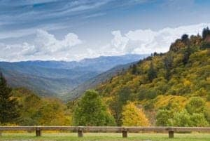 Stunning views from Newfound Gap Road in the Great Smoky Mountains National Park.