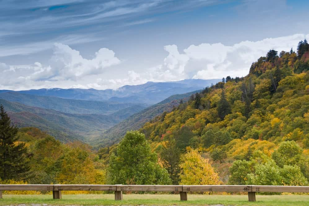 Stunning mountain views from Newfound Gap Road.