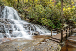 Laurel Falls in the Smoky Mountains.
