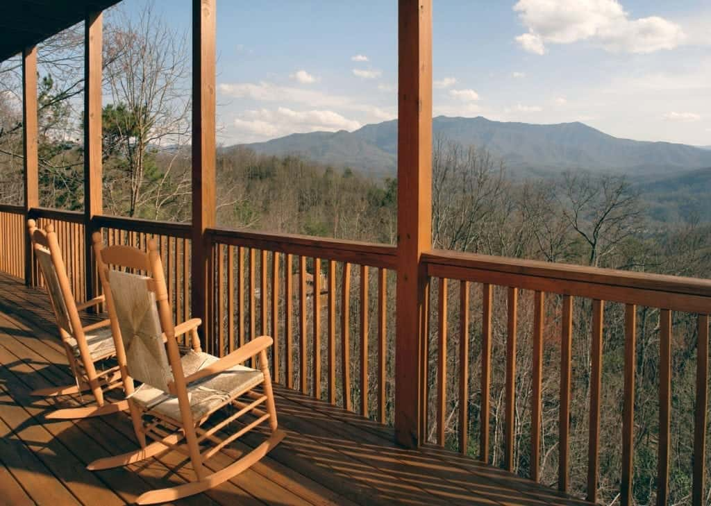 awesome views cabin porch