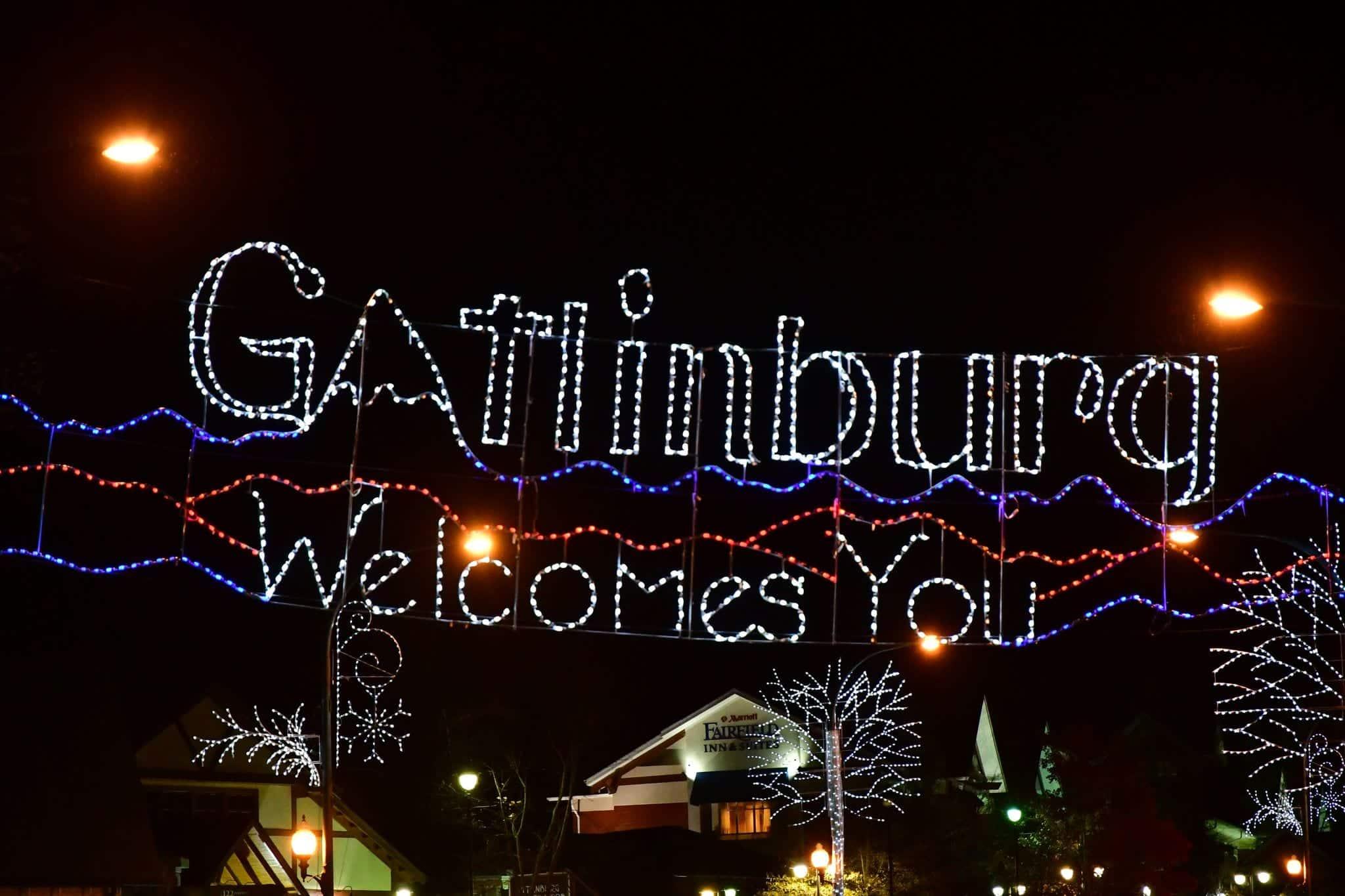 Gatlinburg Welcomes You Christmas Lights